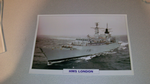 HMS London 1984 British warship framed picture